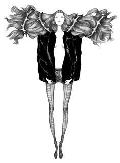 Illustrations for Rad Hourani Spring/Summer 2009 Collection | Laura Laine #Illustration