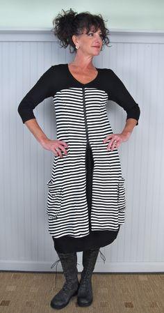 notice the 2 way zipper - can leave it partially zipped Hebbeding Dwarf Dress over Alembika Judy Kisim Dress with R.B.L. Triumph Tall Boot