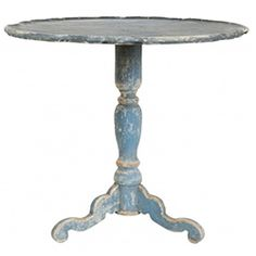 Swedish Blue Accent Table