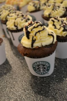 Double chocolate chip frap cupcakes