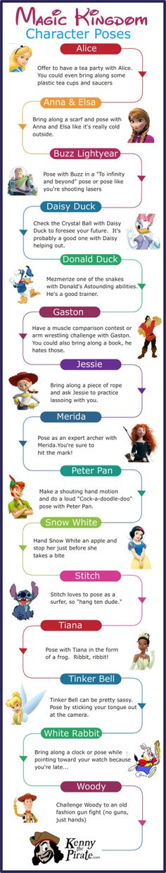Character pose ideas for Magic Kingdom