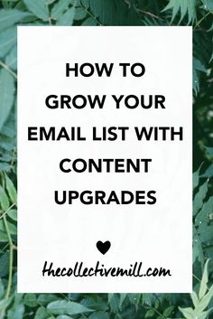 How to Grow Your Email List With Content Upgrades: Content upgrades will help you grow your blog and brand!