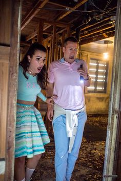 "Funniest damn scene so far! Hester Ulrich and Chad Radwell in Scream Queens ""Haunted House"""
