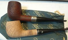Two Peterson Pipes Sand Blasted
