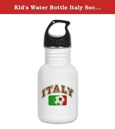Kid's Water Bottle Italy Soccer Grunge Italian Flag. Product Number: 0001-1458350887 Perfect for school lunches or soccer games, our kid's stainless steel water bottle quenches children's thirst for individuality. Personalized for what kids love, it's both eco-friendly and compact. Made of 18/8, food-grade stainless steel. * No lining & no BPA or other toxins * Wide mouth for easy drinking * Durable, BPA-free & phalate-free screw-on top * Holds 0.35L (nearly 12 ounces) * Thin profile to…
