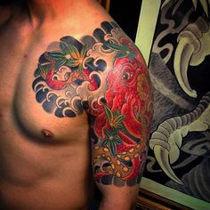 Kraken Tattoo, C Tattoo, Japanese Tattoos For Men, Japanese Tattoo Art, Yoga Tattoos, Life Tattoos, Tatoos, Future Tattoos, Tattoos For Guys