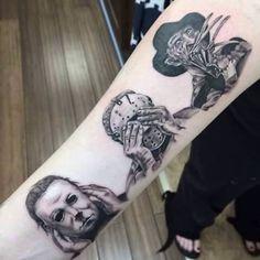 tattoos, Jason, Michael Myers, Freddy Krueger, horror, horror movies, slashers, hear no evil, see no evil, speak no evil