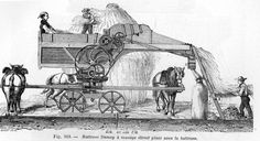 A threshing machine from 1881.