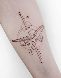 21 Outstanding Plane Tattoos - 21 Outstanding Plane Tattoos Informations About 21 Outstanding Plane Tattoos Pin You can easily use - Form Tattoo, Shape Tattoo, Geometric Line Tattoo, Geometric Lines, Body Art Tattoos, Sleeve Tattoos, Tatoos, Tattoos For Women, Tattoos For Guys