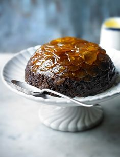 Try this as an alternative after your Christmas meal – it's far lighter than a Christmas pudding but with a seasonal flavour. If you'd like things a bit richer use Billington's dark muscovado sugar instead of the lighter sugar. Christmas Desserts Easy, Christmas Baking, Xmas Food, Christmas Cakes, Christmas Kitchen, Pudding Recipes, Dessert Recipes, Hot Desserts, Dessert Dishes