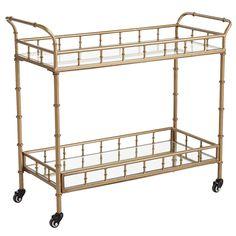Lucette Bar Cart - Gold