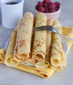 Tender and tasty pancakes- Add this to your pancake repertoire. Cross between crepes and pancakes South African Dishes, West African Food, South African Recipes, Tasty Pancakes, Pancakes And Waffles, What's For Breakfast, Breakfast Recipes, Sweet Crepes Recipe, Ghana Food