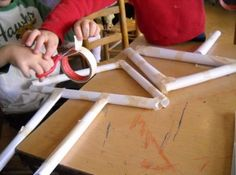 Children use different materials to make paper constructions at the preschool. (Photo provided by Desert Spring Children's Center)