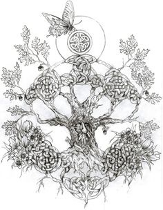celtic tree tattoo - Google Search