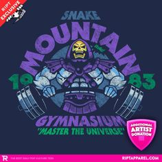 Masters of the Universe: #Skeletor gym t-shirt.