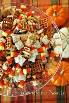 Candy Corn Party Mix