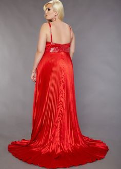 Plus Size Red Wedding Dress - http://www.weddingspow.com/
