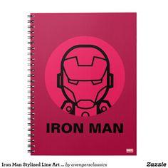 Iron Man Stylized Line Art Icon