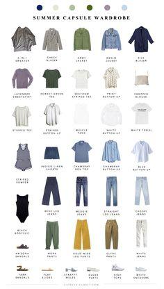 Summer 2018 Capsule Wardrobe - Part II - Capsule Closet wardrobe Men's Paris packing list Capsule Wardrobe Mom, Capsule Outfits, Fashion Capsule, Summer Wardrobe, Travel Outfits, Work Wardrobe, Capsule Wardrobe How To Build A, Wardrobe Ideas, Summer Minimalist