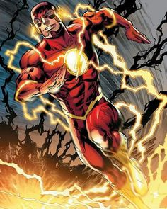 The Flash . The Flash (or simply Flash) is the name of several superheroes appearing in American comic books published by DC Comics. Flash Comics, Arte Dc Comics, Dc Comics Art, Comic Books Art, Comic Art, Book Art, Marvel Universe, Flash Barry Allen, Univers Dc