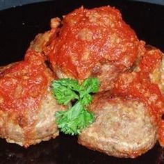 Meatballs made with ground beef, veal and pork, with garlic and Romano cheese. Finish cooking in your favorite marinara sauce.