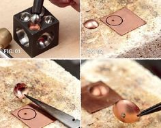 soldering two domed pieces together - from 6 Tips for Micro Torch Soldering and Other Jewelry Making from Kate Richbourg - Jewelry Making Daily