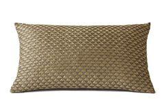 Kilim cushion, Grey Brass