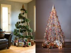 Instead of a traditional christmas tree, do a unique one!