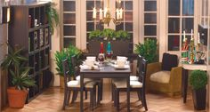 Dolls House Dining Rooms - The dinner table awaits its guests. from dollshouse.com