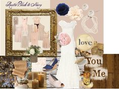 """""""Rustic Blush & Navy Wedding"""" by jalvey on Polyvore"""