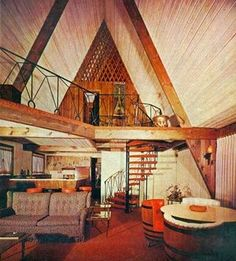 Image result for mid century a frame