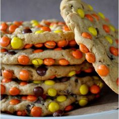 Reese's Pieces Peanut Butter Monster Cookies Recipe