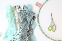 Hanging Fabric Ribbon Hoop DIY