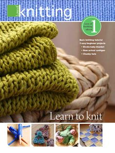 Free Beginner Knitting Patterns - How to Knit | DailyCraft - Your Daily Dose of Arts & Crafts Tips, Projects, & Inspiration. Quilting, Sewing, Knitting, Scrapbooking, Card Making and more!