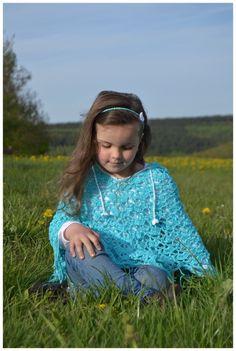 ++ Myria ++ Sommerponcho, Kapuzenponcho, häkeln, für Kinder und Erwachsene