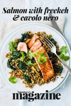 Leafy green veg like cavolo nero, wholegrains and omega salmon help reduce inflammation Cavolo Nero Recipe, Cheap Family Meals, Cook Up A Storm, Greens Recipe, Reduce Inflammation, Omega 3, Fish And Seafood, Meals For The Week, Seafood Recipes
