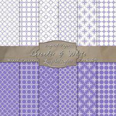 Simply Elegant Designs in Lavender & White – Digital Paper Pack 45
