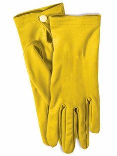 Halloween Yellow Gloves Adult