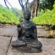"""Excited to share this item from my #etsy shop: 9.7"""" Buddhism Antique Wrinkled Gown Shakyamuni Gautama Bronze Buddha Statue"""