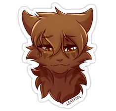 'Warriors Stickers – Leafpool' by RiverSpirit - Katzen Warrior Cats Fan Art, Warrior Cats Series, Warrior Cats Books, Warrior Cat Drawings, Love Warriors, Spirited Art, Cat Stickers, Cat Face, Furry Art