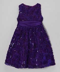 Take a look at this Purple Floral Soutache Dress - Infant on zulily today!