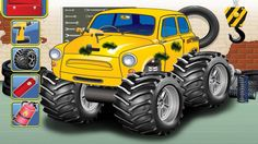 Monster Truck Compilation Car Game Cartoon for Kids