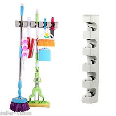 Brush Mop Broom Storage Organiser Wall Mounted Kitchen Rack Magic Holder Hanger