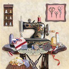 'Antique Sewing Room - Cream' ~ Rosiland Solomon