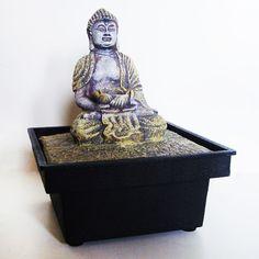 dekorativer Zimmerbrunnen Buddha