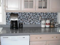 Kitchen Backsplash- it's not tile it's a DECAL! - We do our best to make home improvements on a budget. Sprucing up the kitchen was on our list, but adding a ti…
