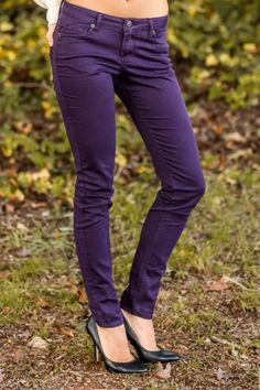 Eggplant Jeggings, add a pop of color to your fall wardrobe!
