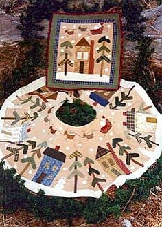 ~ Houses & Trees Tree Skirt ~