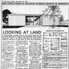 The Age, Monday Dec 24, 1962.  I love 60s architecture. I loath Mission Brown. Life is hard.