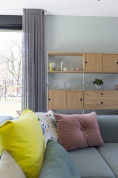 Femkeido | Zelfbouw Villa – Enschede Living Spaces, Living Room, House Design, Curtains, Interior Design, Rotterdam, Modern, Dressing, Design Ideas